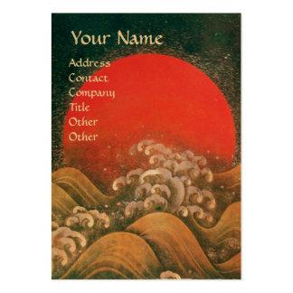 AMATERASU SUN GODDESS red black brown gold Business Card