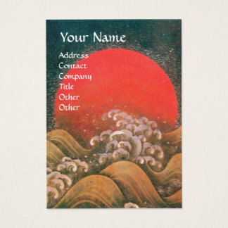 AMATERASU , SUN GODDESS ,red black brown gold Business Card