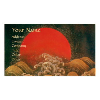 AMATERASU , SUN GODDESS ,red black brown gold Double-Sided Standard Business Cards (Pack Of 100)