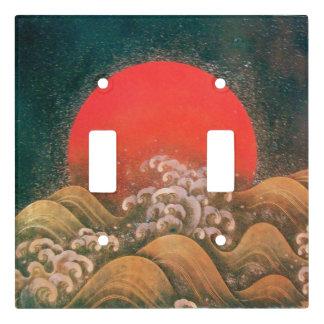 AMATERASU, SUN GODDESS Red Black Brown Light Switch Cover