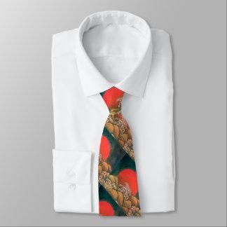 AMATERASU, SUN GODDESS Red Black Brown Neck Tie