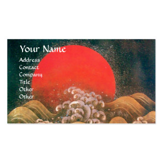 AMATERASU , SUN GODDESS ,red black brown pearl Double-Sided Standard Business Cards (Pack Of 100)