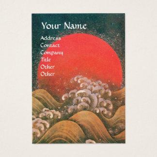 AMATERASU , SUN GODDESS ,red black brown pearl Business Card