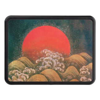 AMATERASU SUN GODDESS Red Black Brown Tow Hitch Covers