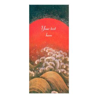 AMATERASU , SUN GODDESS ,red black brown Rack Card