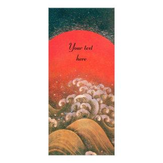 AMATERASU SUN GODDESS red black brown Personalized Rack Card