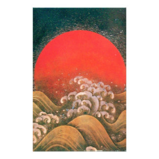 AMATERASU , SUN GODDESS ,red black brown Stationery