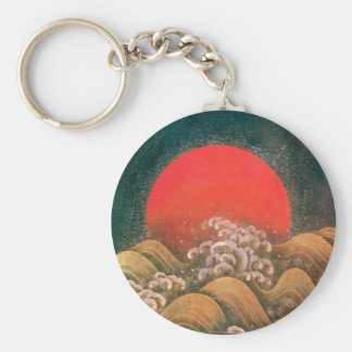 AMATERASU, SUN GODDESS red brown black Keychain