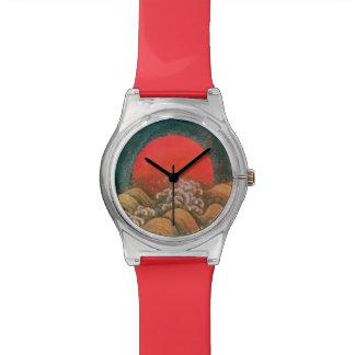 AMATERASU SUN GODDESS red,brown, black Wristwatch