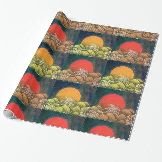 AMATERASU SUN GODDESS red,green,yellow,black Wrapping Paper