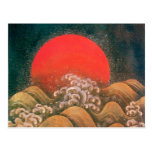 AMATERASU SUN GODDESS Red Yellow Black Brown Postcard