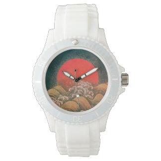 AMATERASU SUN GODDESS red,yellow, black Wristwatch