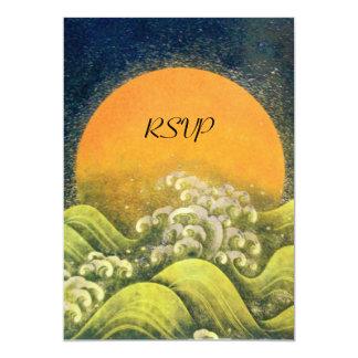 AMATERASU ,SUN GODDESS RSVP ,yellow green black Card