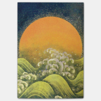 AMATERASU SUN GODDESS Yellow Black Brown Post-it® Notes