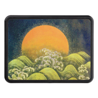 AMATERASU SUN GODDESS Yellow Black Green Tow Hitch Cover