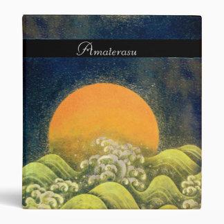 AMATERASU SUN GODDESS yellow green black Vinyl Binders