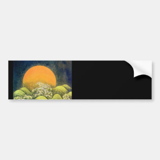 AMATERASU , SUN GODDESS , yellow green black Bumper Sticker