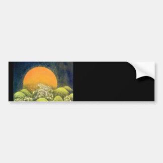 AMATERASU , SUN GODDESS , yellow green black Car Bumper Sticker