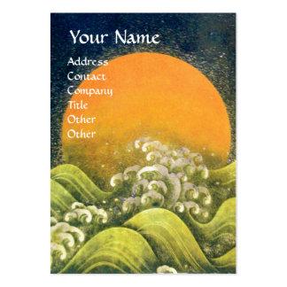 AMATERASU SUN GODDESS yellow green black Business Card Template