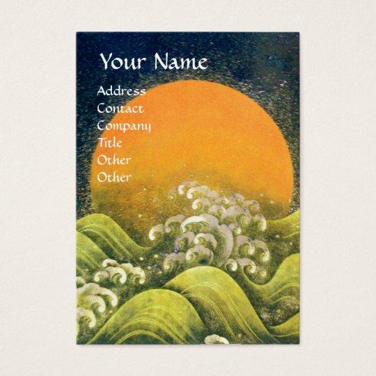 AMATERASU , SUN GODDESS ,yellow green black Business Card