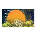 AMATERASU , SUN GODDESS ,yellow green black Business Card Template