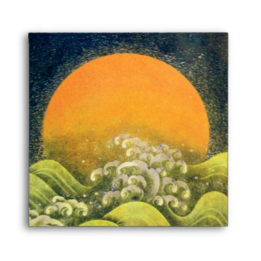 AMATERASU , SUN GODDESS ,yellow green black Envelope