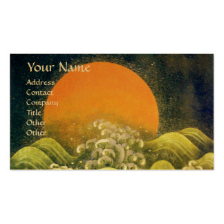 AMATERASU , SUN GODDESS ,yellow green black gold Double-Sided Standard Business Cards (Pack Of 100)
