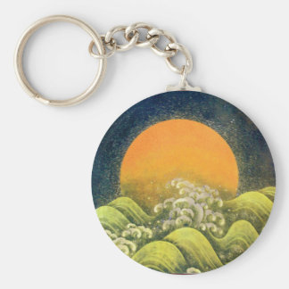 AMATERASU, SUN GODDESS yellow green black Keychain