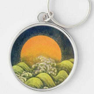 AMATERASU, SUN GODDESS yellow green black Keychain