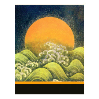 AMATERASU , SUN GODDESS , yellow green black Letterhead