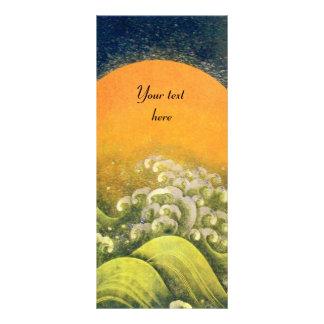 AMATERASU , SUN GODDESS ,yellow green black Rack Card