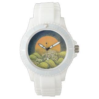 AMATERASU SUN GODDESS yellow green brown black Wrist Watches