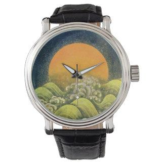 AMATERASU SUN GODDESS yellow green brown black Wristwatches