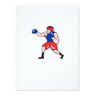 Amateur Boxer Boxing Cartoon Personalised Invite