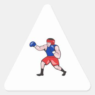 Amateur Boxer Boxing Cartoon Sticker