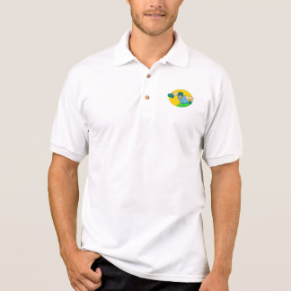 Amateur Boxer Knockout Punch Drawing Polo Shirt