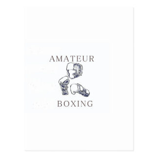 Amateur Boxer Postcard
