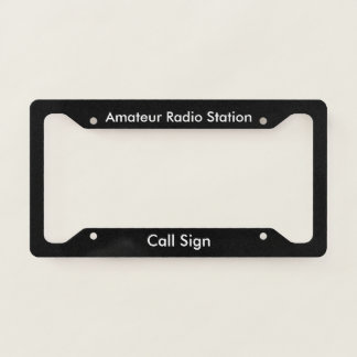 Amateur Call Sign License Plate Frame