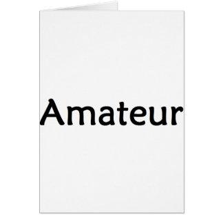 Amateur Card