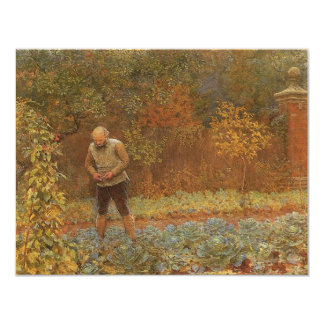 Amateur (Coachman & Cabbages) by Frederick Walker Card