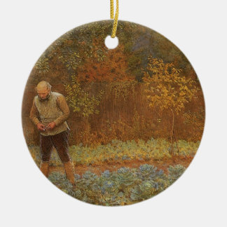 Amateur (Coachman & Cabbages) by Frederick Walker Ceramic Ornament
