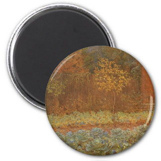 Amateur (Coachman & Cabbages) by Frederick Walker 2 Inch Round Magnet