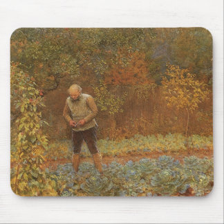 Amateur (Coachman & Cabbages) by Frederick Walker Mouse Pad