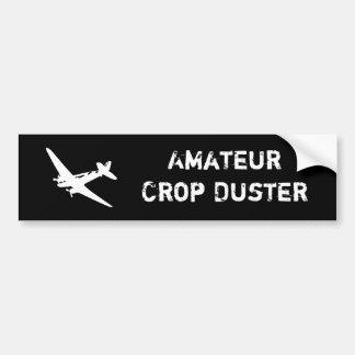 amateur crop duster car bumper sticker