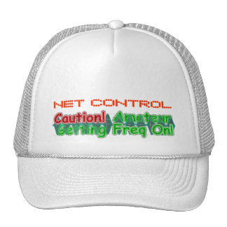 Amateur Getting Freq On & net-control hat