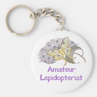 Amateur Lepidopterist Luna Moth Basic Round Button Keychain
