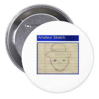 Amateur Leprechaun Sketch 3 Inch Round Button