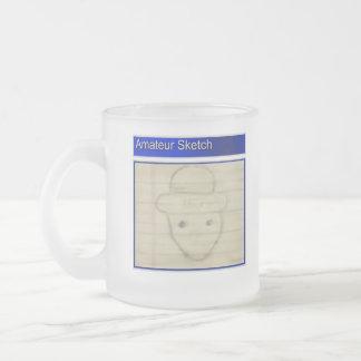 Amateur Leprechaun Sketch Frosted Glass Coffee Mug