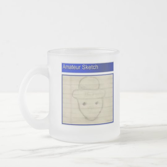 Amateur Leprechaun Sketch Frosted Glass Coffee Mug