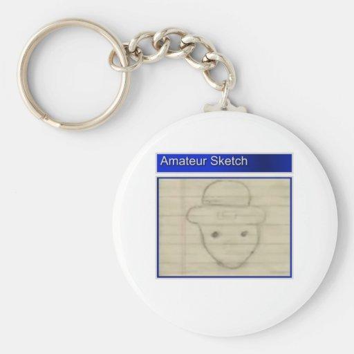 Amateur Leprechaun Sketch Keychain